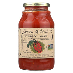 Cucina Antica Tomato Basil Cooking Sauce - Case Of 12 - 25 Oz.