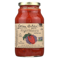 Cucina Antica Garlic Marinara Cooking Sauce - Case Of 12 - 25 Oz.