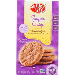 Enjoy Life Cookie - Crunchy - Sugar Crisp - Crunchy - Gluten Free - 6.3 Oz - Case Of 6