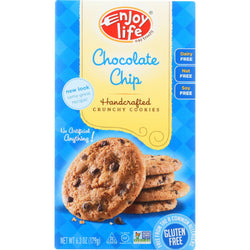 Enjoy Life Cookie - Crunchy - Chocolate Chip - Gluten Free - 6.3 Oz - Case Of 6