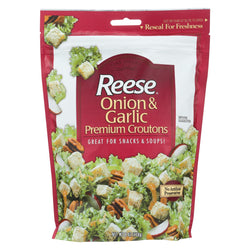 Reese Premium Croutons - Onion And Garlic - Case Of 12 - 6 Oz.