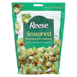 Reese Seasoned Premium Croutons - Case Of 12 - 6 Oz.