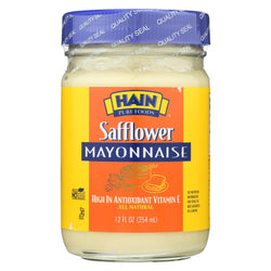 Hain Mayonnaise - Safflower - Case Of 12 - 12 Oz.