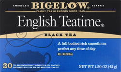 Bigelow Tea English Teatime Black Tea - Case Of 6 - 20 Bags