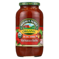 Walnut Acres Organic Sauces - Marinara With Herbs - Case Of 12 - 25.5 Fl Oz.