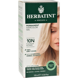 Herbatint Permanent Herbal Haircolour Gel 10n Platinum Blonde - 135 Ml