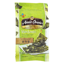 Annie Chun's Seaweed Snacks Roasted Wasabi - Case Of 12 - 0.35 Oz.