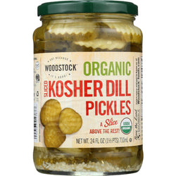 Woodstock Pickles - Organic - Kosher Dill - Slices - 24 Oz - Case Of 6