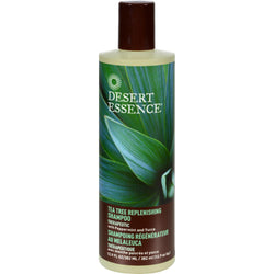 Desert Essence Replenishing Shampoo Tea Tree - 12.9 Fl Oz