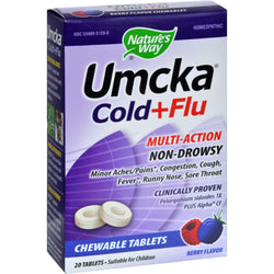 Nature's Way Umcka Cold Plus Flu Berry - 20 Chewables