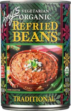 Amy's Organic Traditional Refried Beans - Case Of 12 - 15.4 Oz.