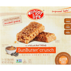 Enjoy Life Snack Bar - Sunseed Crunch - Gluten Free - 5 Oz - Case Of 6