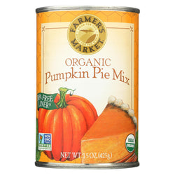 Farmer's Market Organic Pumpkin - Pie Mix - Case Of 12 - 15 Oz.