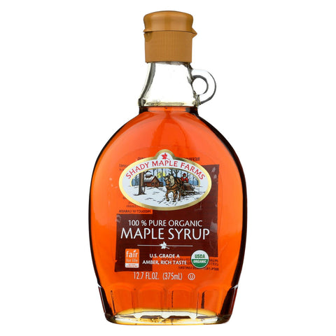 Shady Maple Farms 100 Percent Pure Organic Maple Syrup - Case Of 12 - 12.7 Fl Oz.