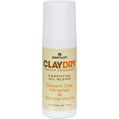 Zion Health Clay Dry Natural Deodorant - 3 Oz