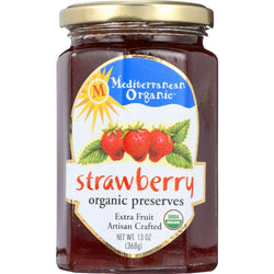 Mediterranean Organic Fruit Preserves - Organic - Strawberry - 13 Oz - Case Of 12