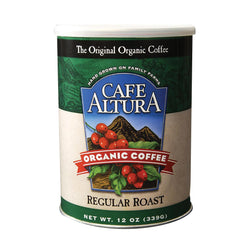 Cafe Altura Organic Ground Coffee - Regular Roast - Case Of 6 - 12 Oz.