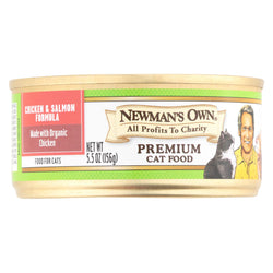 Newman's Own Organics Adult Cat Formula - Dry - Case Of 24 - 5.5 Oz.