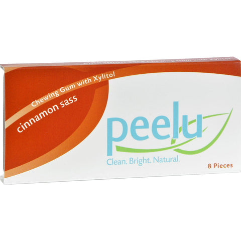 Peelu Chewing Gum Display - Cinnamon Sass - 8 Ct - Case Of 12