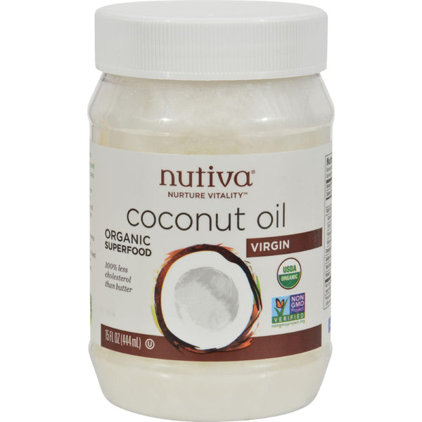 Nutiva Virgin Coconut Oil Organic - 15 Fl Oz