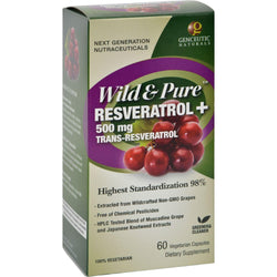 Genceutic Naturals Wild And Pure Resveratrol - 500 Mg - 60 Vcaps