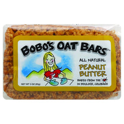 Bobo's Oat Bars - All Natural - Peanut Butter - 3 Oz Bars - Case Of 12