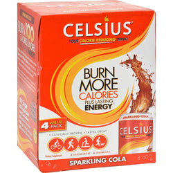 Celsius Calorie Burning Drink - Sparkling Cola - 4-12 Oz