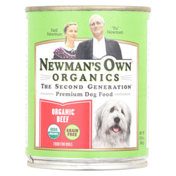Newman's Own Organics Grain - Free For Dogs - Beef - Case Of 12 - 12 Oz.