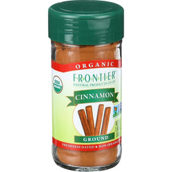Frontier Herb Cinnamon - Organic - Ground - 3 Percent Oil - A Grade - 1.90 Oz