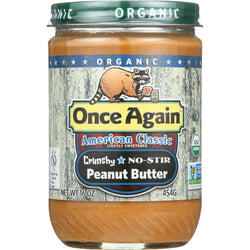 Once Again Peanut Butter - Organic - Crunchy - American Classic - 16 Oz - Case Of 12
