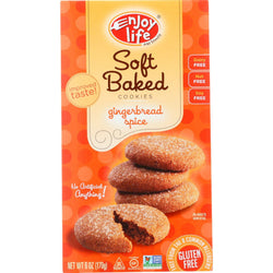 Enjoy Life Cookie - Soft Baked - Gingerbread Spice - Gluten Free - 6 Oz - Case Of 6