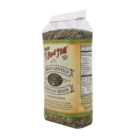 Bob's Red Mill Petite French Green Lentils - 24 Oz - Case Of 4