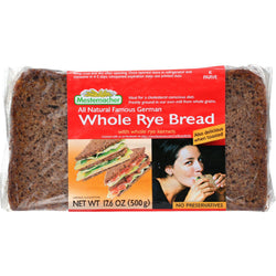 Mestemacher Bread Bread - Rye - Whole - 17.6 Oz - Case Of 12
