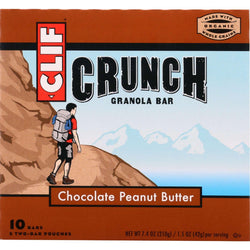 Clif Bar Granola Bar - Organic - Crunch - Chocolate Peanut Butter - 7.4 Oz - Case Of 12