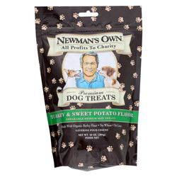 Newman's Own Organics Turkey And Sweet Potato Treats - Organic - Case Of 6 - 10 Oz.