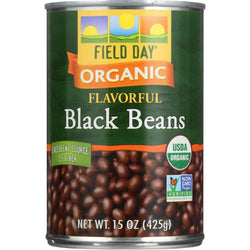 Field Day Beans - Organic - Black - 15 Oz - Case Of 12