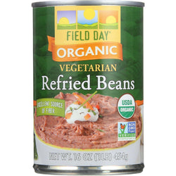 Field Day Beans - Organic - Vegetarian - Refried - Pinto - 15 Oz - Case Of 12
