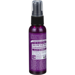 Organic Hand Sanitizer Spray; Lavender