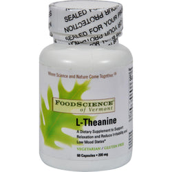Foodscience Of Vermont L-theanine - 200 Mg - 60 Vegetarian Capsules