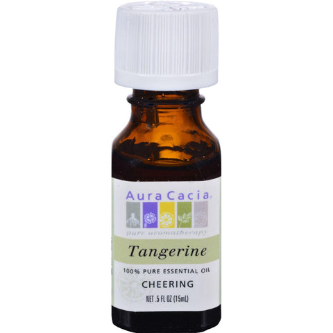 Aura Cacia Pure Essential Oil Tangerine - 0.5 Fl Oz