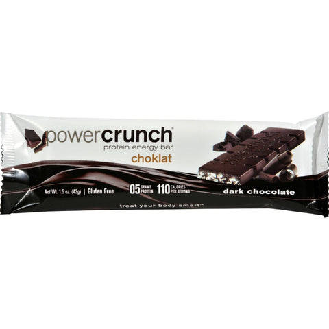Power Crunch Bar - Dark Chocolate - Case Of 12 - 1.4 Oz