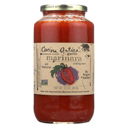 Cucina Antica Garlic Marinara Cooking Sauce - Case Of 12 - 32 Fl Oz.