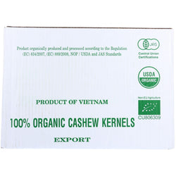 Bulk Nuts Cashews - Organic - Whole - Raw - 1 Lb - Case Of 25