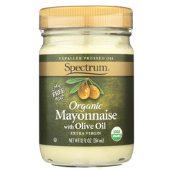 Spectrum Naturals Organic Olive Oil Mayonnaise - Case Of 12 - 12 Oz.