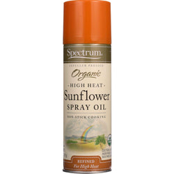 Organic Sunflower Oil Spray; High Heat