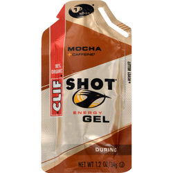 Clif Bar Clif Shot - Organic Mocha - Case Of 24 - 1.2 Oz