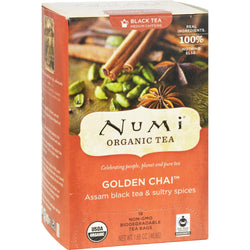 Numi Tea Golden Chai Black Tea - 18 Bags
