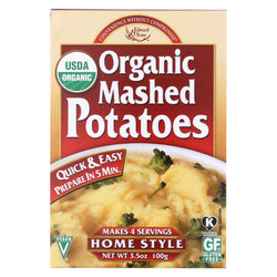 Edward And Sons Organic Mashed Potatoes - Home Style - Case Of 6 - 3.5 Oz.
