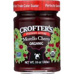 Crofters Fruit Spread - Organic - Premium - Morello Cherry - 10 Oz - Case Of 6