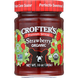 Crofters Fruit Spread - Organic - Premium - Strawberry - 10 Oz - Case Of 6